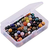 F Fityle 100pcs/box Gravel Spacer Beads W/Hole Bracelets Jewelry Making Beads Charms