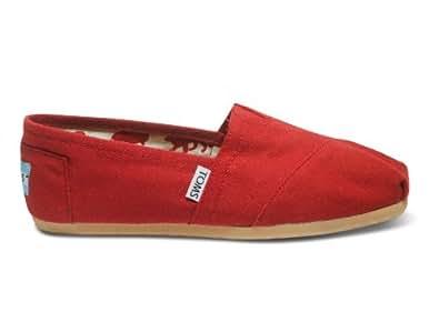 (トムズシューズ)TOMS shoes Classic Canvas スリッポン ((W5.5(22.5cm), 7Red)