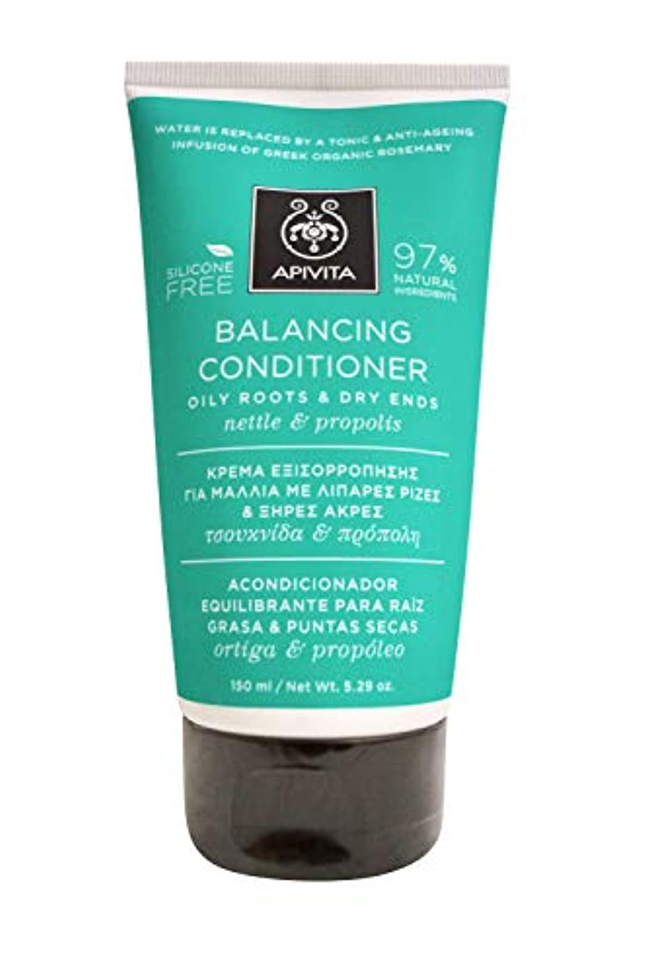 破壊的な窓ぼんやりしたアピヴィータ Balancing Conditioner with Nettle & Propolis (Oily Roots & Dry Ends) 150ml [並行輸入品]
