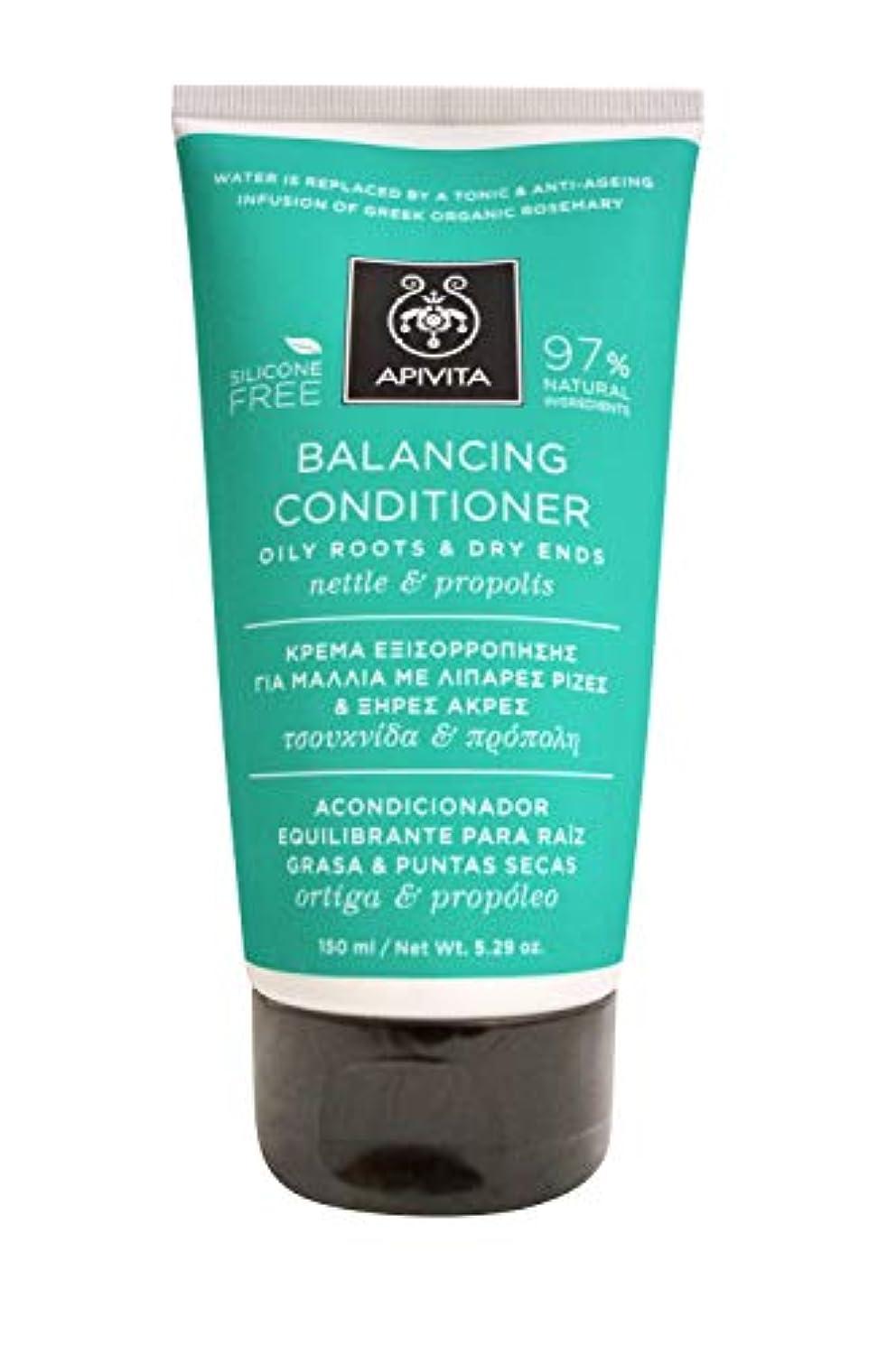 車両天才不利アピヴィータ Balancing Conditioner with Nettle & Propolis (Oily Roots & Dry Ends) 150ml [並行輸入品]