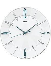 (セイコークロック) SEIKO CLOCK スタンダード 電波 壁掛け時計 KX214W 連続秒針 白パール アナログ