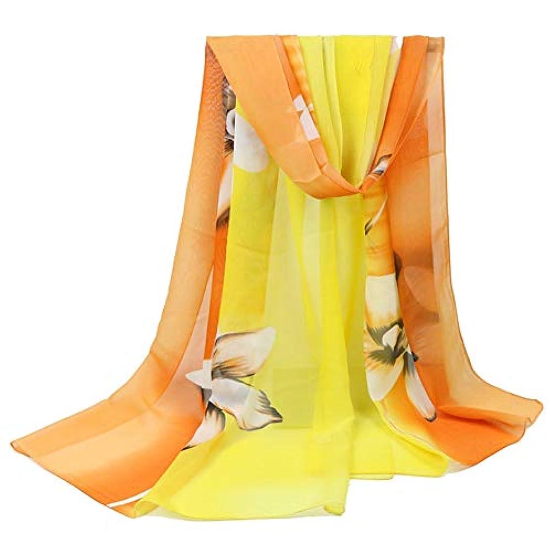 止まる驚いたことに内陸Ruikey レディース スカーフ  ストール 花柄 薄い ネッカチーフ オフィススカーフ 防寒 日焼け止め 薄手 海辺 旅行 通勤用 多機能