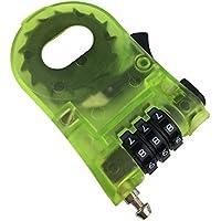 盗難防止 巻き取り式セキュリティワイヤーケーブル / 携帯 に 便利 な ダイヤル ナンバー 式 /海外 旅行 やスノーボード(スノボ)やスキーなど ゲレンデ の 防犯ロック(1 pack)