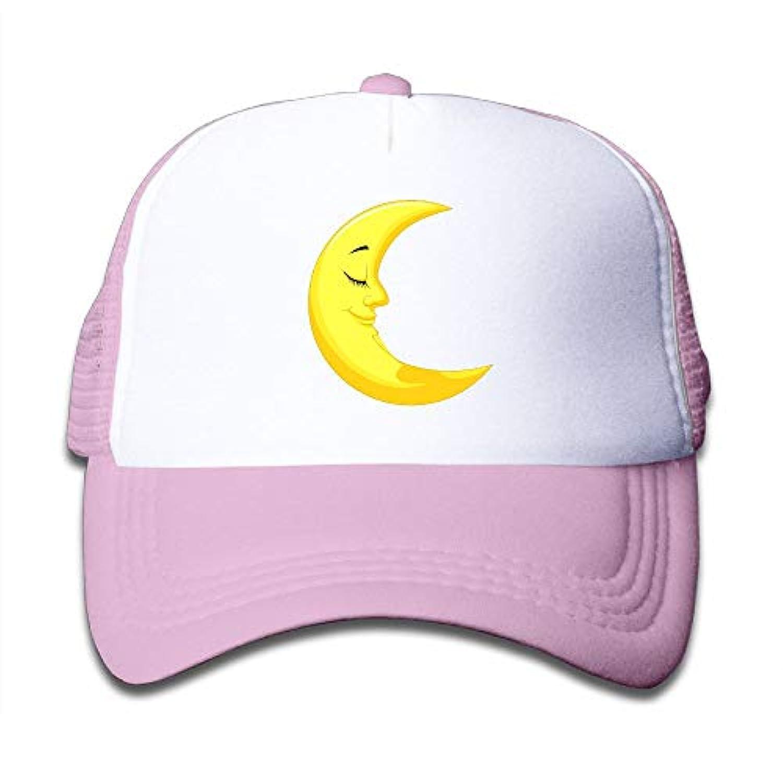 かわいい イエロー ムーン 素敵 かわいい おもしろい ファッション 派手 メッシュキャップ 子ども ハット 耐久性 帽子 通学 スポーツ