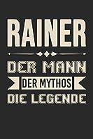 Rainer Der Mann Der Mythos Die Legende: Din A5 Heft (Liniert) Mit Linien Fuer Rainer | Notizbuch Tagebuch Planer Fuer Jeden Mit Dem Vorname Rainer | Notiz Buch Geschenk Journal Rainer Name & Spitzname Notebook