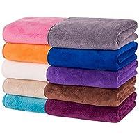 家中のタオルが高級ホテル並みに! 美容サロンも使用 大判タオル 10枚セット 35×75cmサイズ 毎日使うものだからいいものを 赤ちゃんの柔肌にもぴったり♪ [並行輸入品]