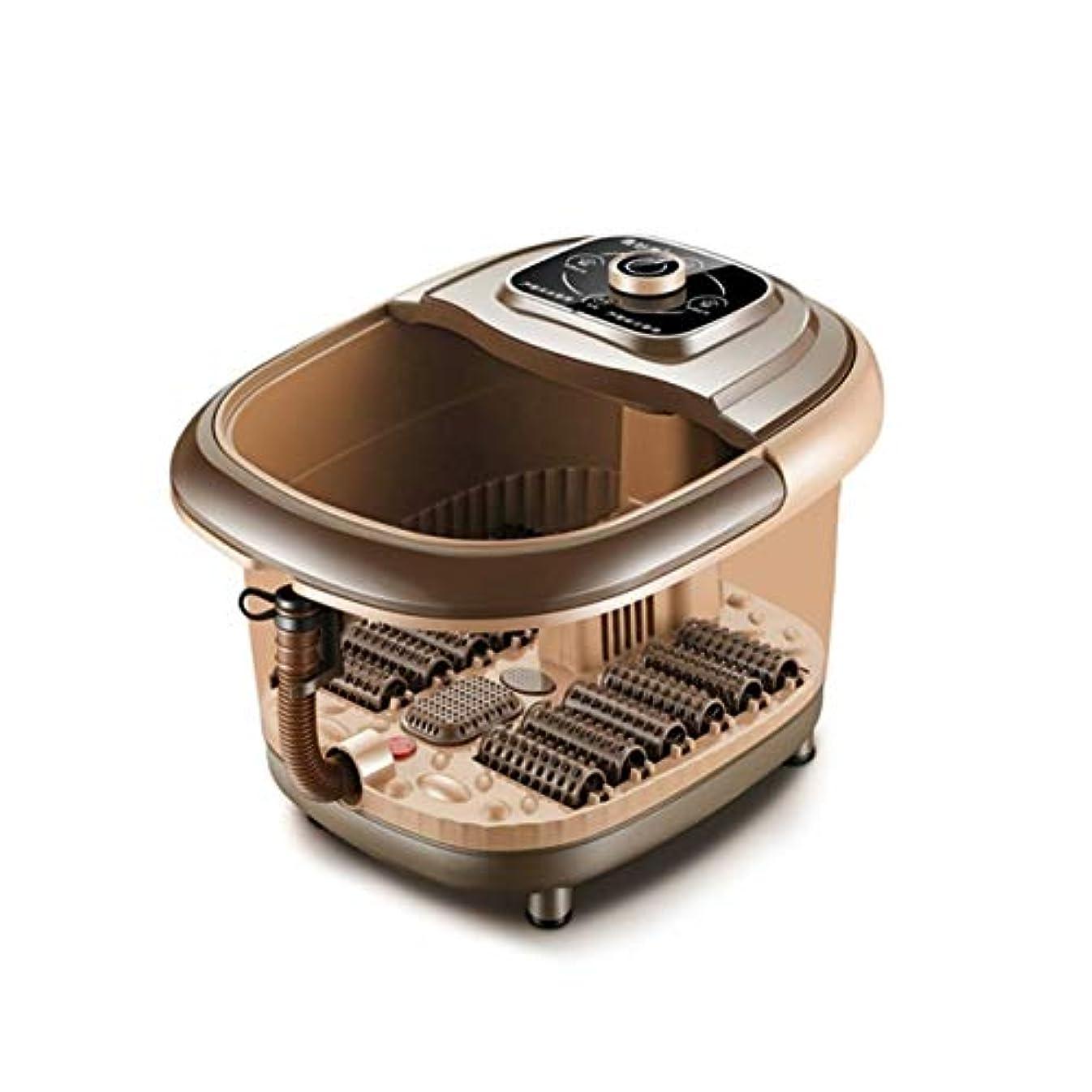 凍ったダイエット持つDeeploveUU 8l自動加熱電気ローラーフットバレルバスソーカー振動ディープバケツペディキュアソークフィート流域浴槽