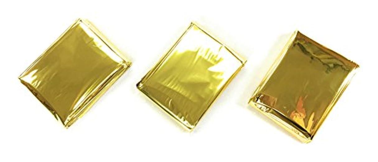 はげインターネット責める特大 サバイバルシート 160cm×210cm 3枚 セット ゴールド(太陽熱吸収)シルバー(日差し反射)W機能 国内発送
