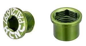 KCNC チェーンリング ボルト シングルヨウ 5PCS  M8.5X0.75X4.5B M8.5X0.75X4.5N グリーン 263116