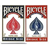 【まとめ買い】バイスクル BICYCLE トランプ ブリッジサイズ 赤 / 青 セット