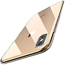 TOZO for iPhone Xs Max Case 6.5 Inch (2018) Crystal Clear Soft TPU Gel Skin Ultra-Thin [Slim Fit] Transparent Flexible Premium Cover [Wireless Charger Compatible] for iPhone Xs Max with Design [Clear]