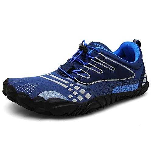 [Zcoli] ランニングシューズ メンズ 軽量 トレーニングシューズ レディース フィットネスシューズ 通気 ウォーキングシューズ フィットネス ジョギング スポーツシューズ ネイビー 41