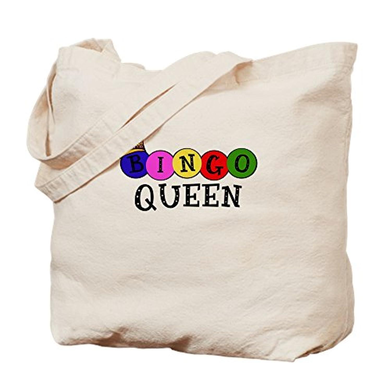 CafePress – Bingo Queenトートバッグ – ナチュラルキャンバストートバッグ、布ショッピングバッグ S ベージュ 0191455972DECC2