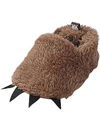 Zhengpin 冬 柔らかい暖か スリッパ ルームシューズ 怪獣ルーム靴 ベビー キッズ 子供用
