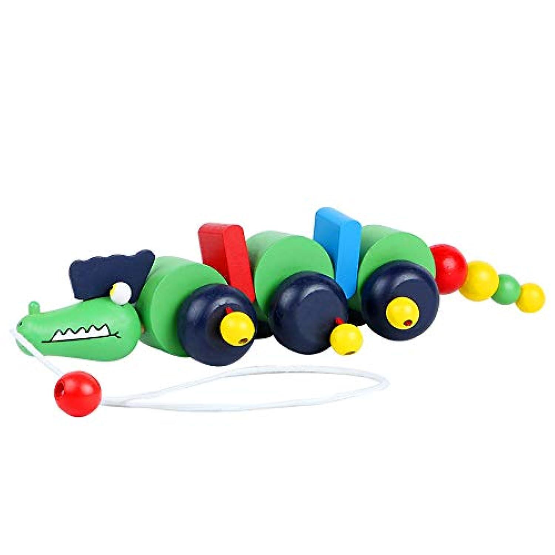 列車玩具 ワニおもちゃ モンテッソーリ 幼児 教育 木製 知育玩具 木製 おもちゃ パズル 子供用 女の子 男の子 誕生日 クリスマス プレゼント