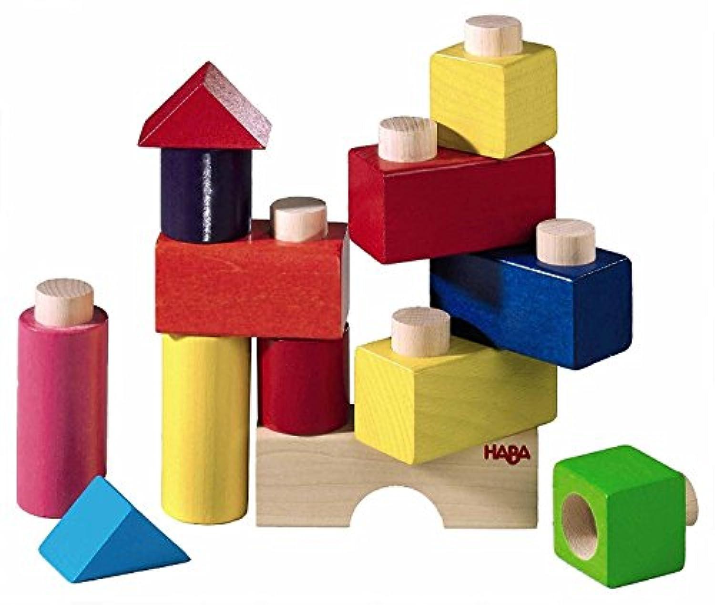 13ピース、Chunky突起べカラフルな木製Building Blockセット