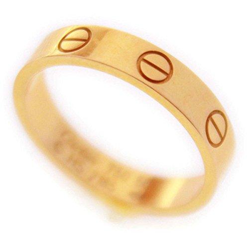 (カルティエ) Cartierミニラブリング AU750 PG ピンクゴールド ♯50/約10号 指輪