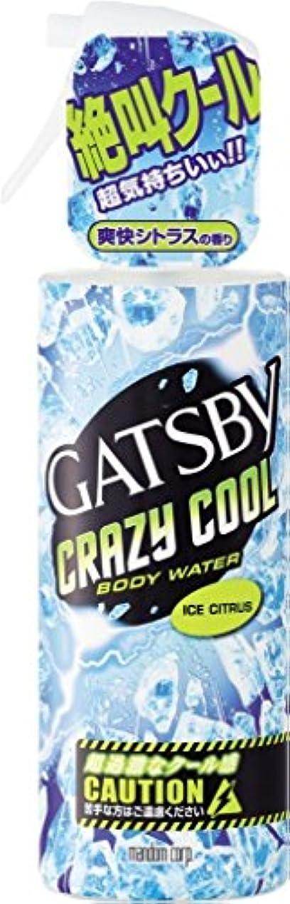 横向き文化体GATSBY(ギャツビー) クレイジークール ボディウォーター アイスシトラス 170mL × 3個