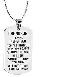 パリSelection grandson-always Remember You Are Braverインスピレーションジュエリーネックレス