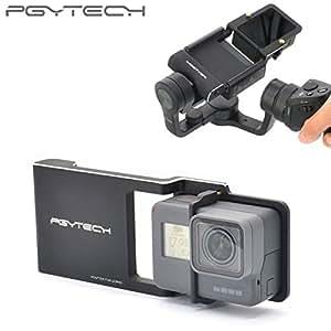 pgytechアダプタfor OsmoモバイルZhiyun Gopro Hero 6543+ xiaoyi Smooth Qアクセサリースイッチマウントプレートカメラドローンパーツ