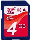 Team SDHCカード 4GB Class 10 ECOパッケージ 10年保証 TASD4GBC10E