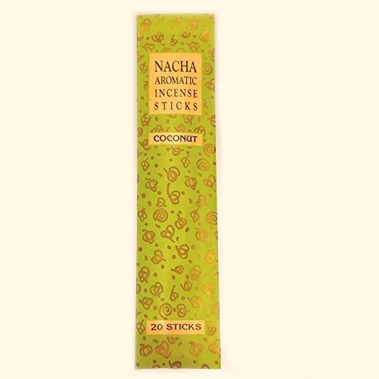 おかしい無礼にキャリア【NACHA】NACHA NATURALS インセンス ココナッツ