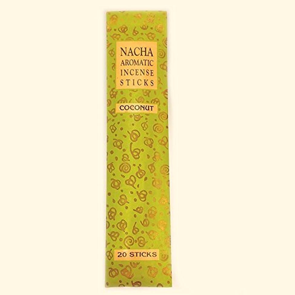 チャートリクルート電化する【NACHA】NACHA NATURALS インセンス ココナッツ