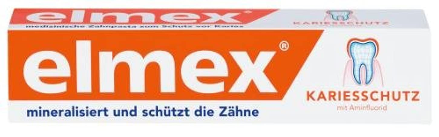 観光に行くジーンズ酔ったELMEX toothpaste m. folding box