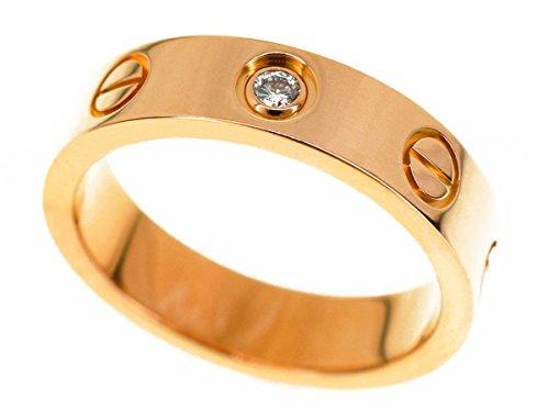 (カルティエ) Cartier 1Pダイヤ ミニ ラブ リング K18 750 PG ピンクゴールド 日本サイズ約4号 #44 指輪 30290425