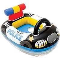ベビー幼児子供幼児水泳フロートシートボートリングプールおもちゃインフレータブルラフト椅子バスおもちゃ (色 : Police car)