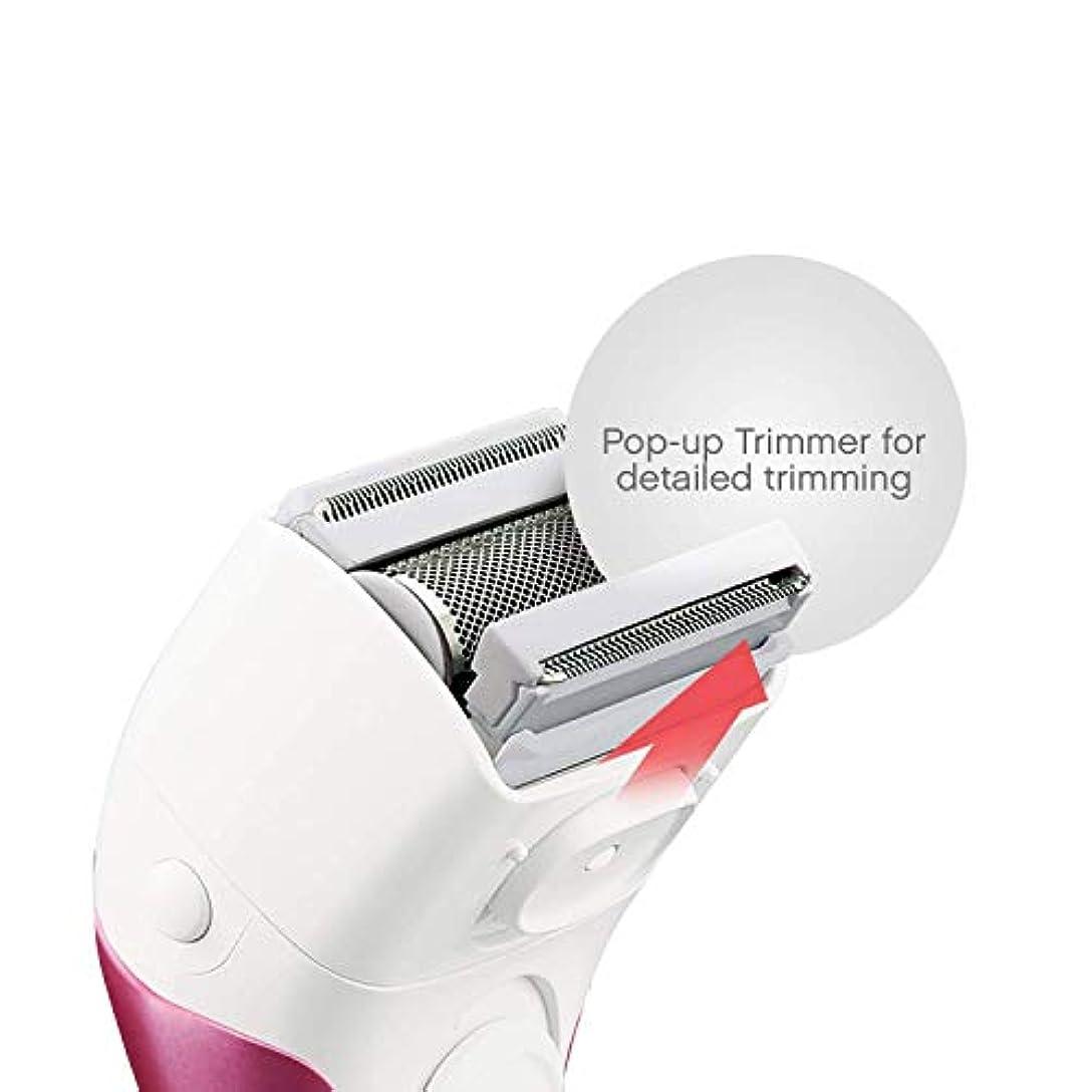 摘む強い訴えるTZY 女性の家庭用電気シェーバー3ブレードワイヤレスレイザーポップアップトリマー独立浮上ヘッドウェットとドライ防水脱毛機器