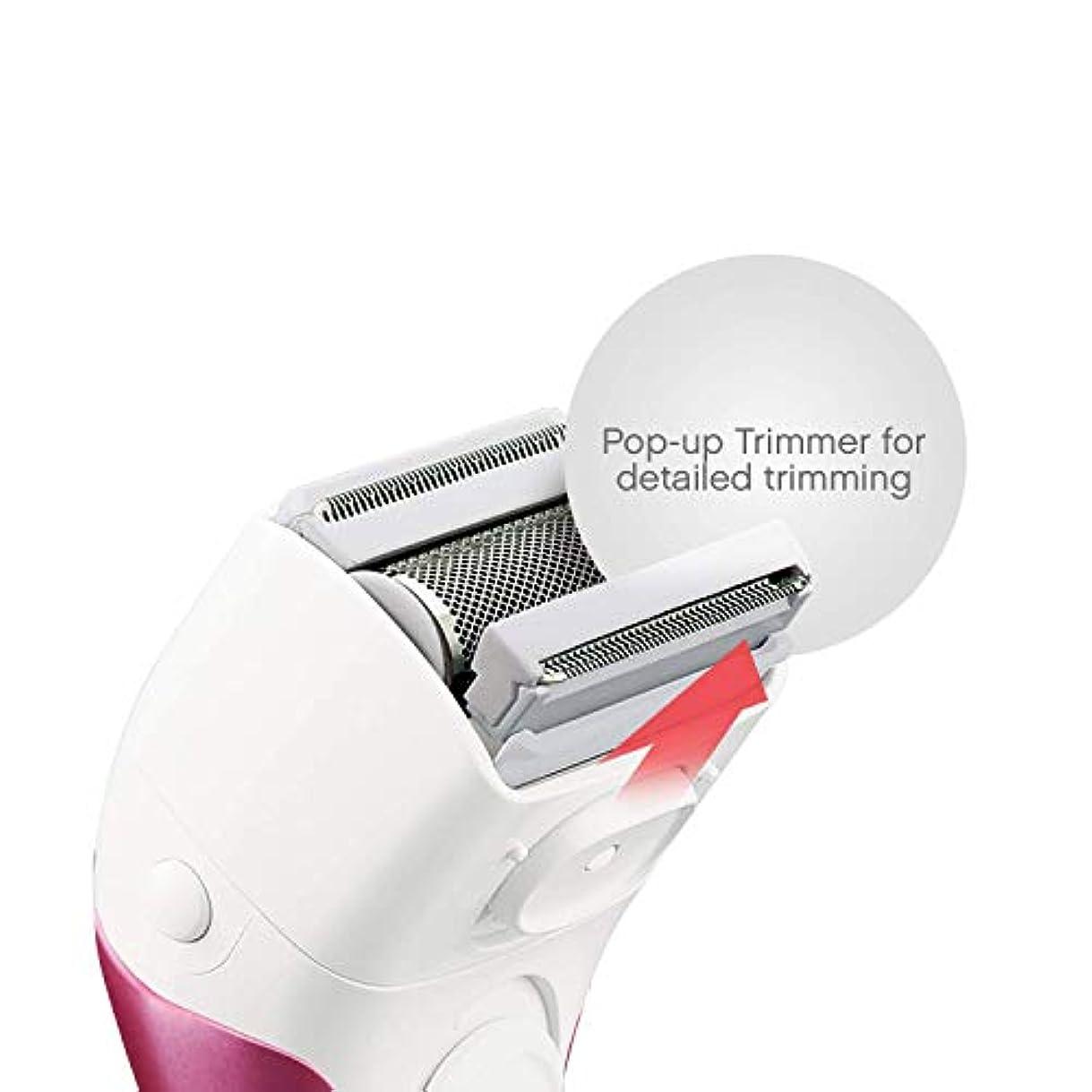 学期発症批判TZY 女性の家庭用電気シェーバー3ブレードワイヤレスレイザーポップアップトリマー独立浮上ヘッドウェットとドライ防水脱毛機器