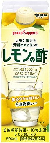 ポッカサッポロ レモン果汁を発酵させて作ったレモンの酢 (紙パック) 500ml