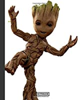 Notebook: Guardians Of The Galaxy Groot Tree Funny Cartoon Teenage Girls Boys Kids Adults Supplies Student Teacher Daily Creative Writing College Ruled Pages Book 7.5 x 9.25 Inches 110 Pages