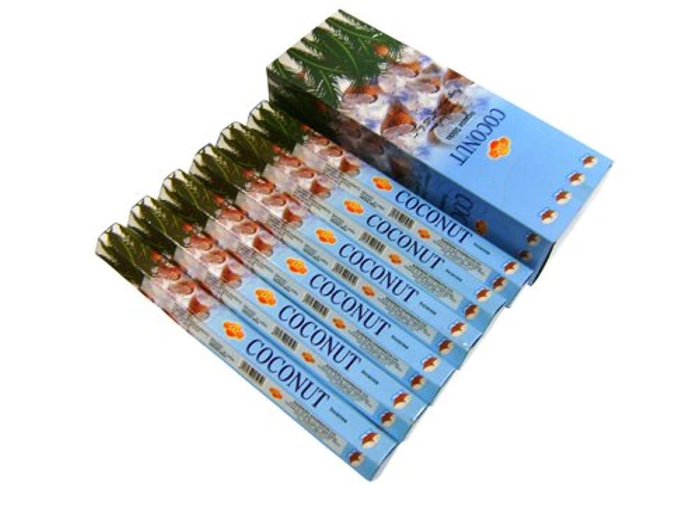 昼間永遠の協力SANDESH SAC (サンデッシュ) ココナッツ香 スティック COCONUT 6箱セット