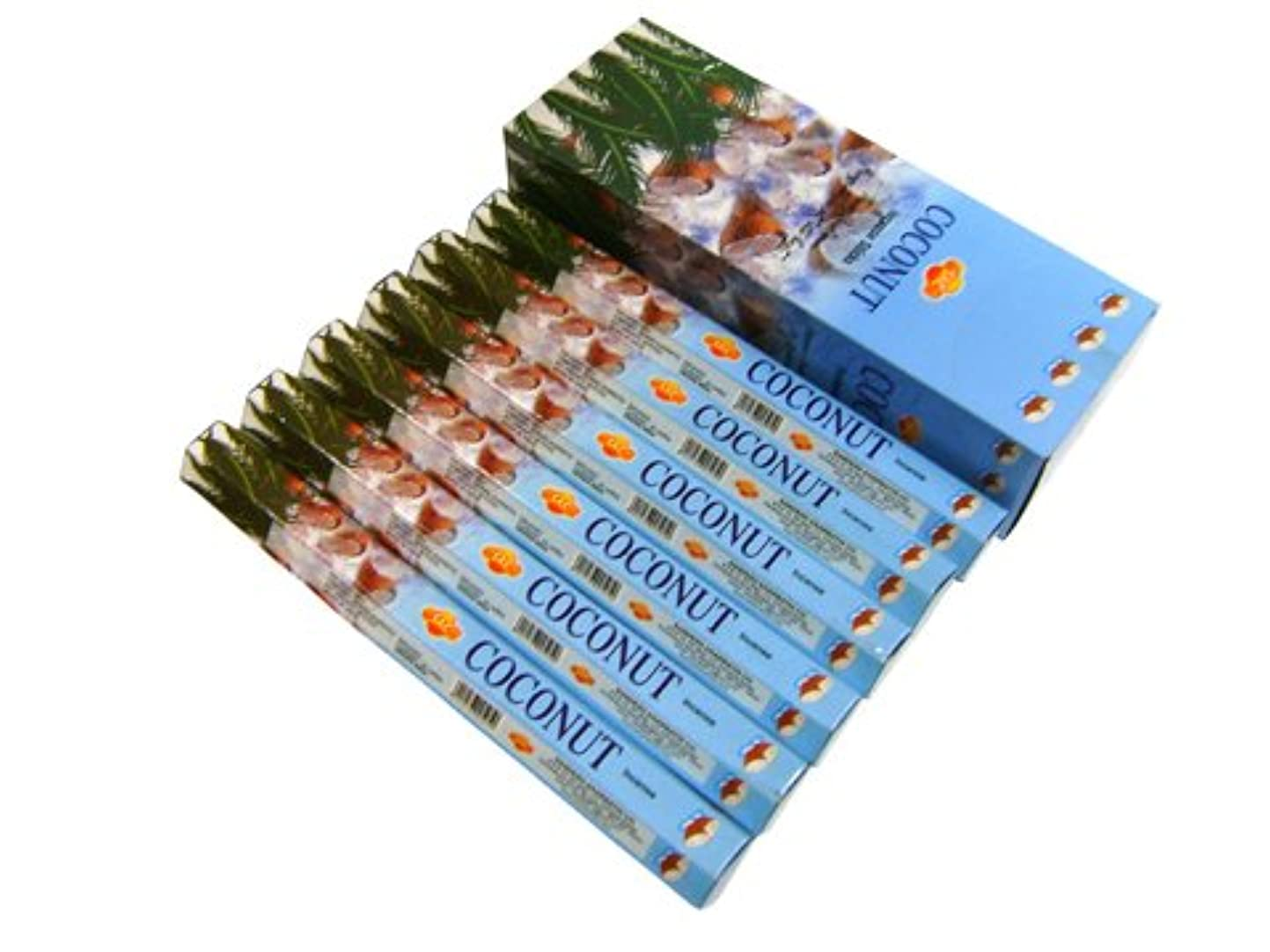浸透する行商人タバコSANDESH SAC (サンデッシュ) ココナッツ香 スティック COCONUT 6箱セット