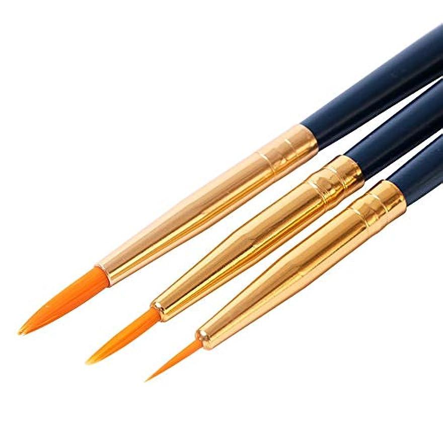 ナンセンス教養がある多分1ピースアクリル彫刻ブラシネイルアート絵画ライナーブラシペンセットuvジェルネイルポリッシュフラワーストライプ描画マニキュアツールSA817