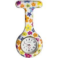 Flower Silicone Medical Nurse Watch Clip on Lapel Watch Pocket Watch