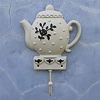KTYX ヨーロッパの牧歌的な鉄のケトルのフックの装飾 コートハンガー