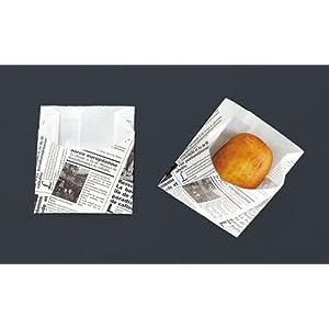 遠藤商事 使い捨て容器 白 幅×高さ(ベロ含む)×高さ(有効)×マチ(mm):90×110×85×35 業務用 耐油紙袋 ヨーロピアンハーフムーン WPV4401 100個セット