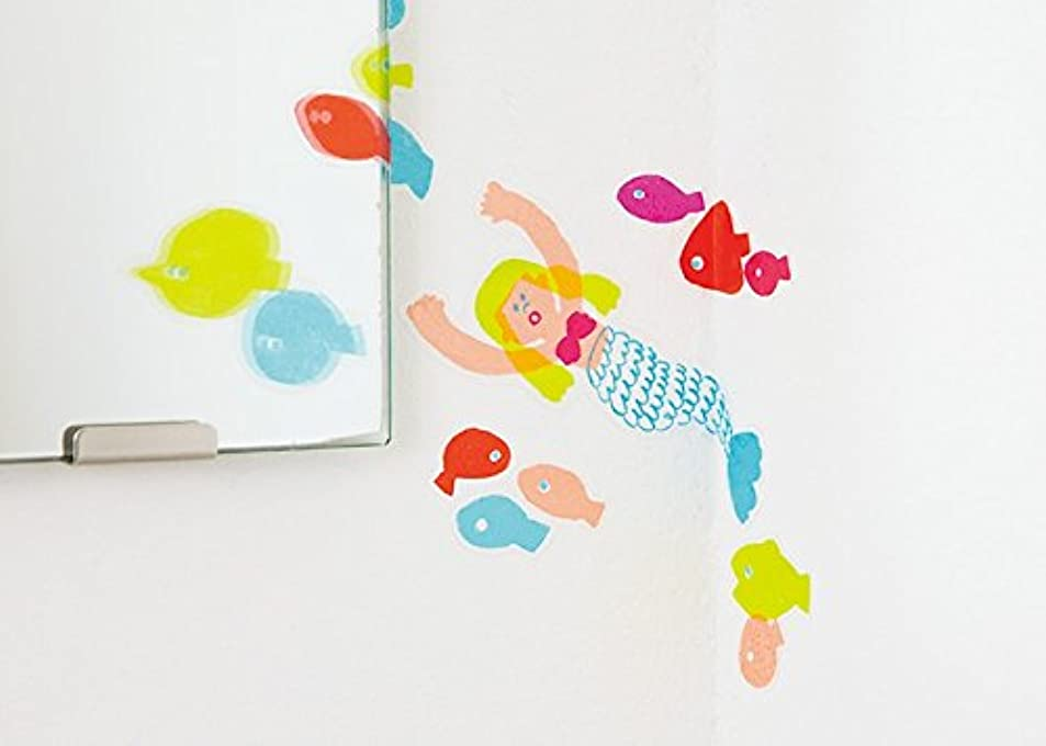 レポートを書く幻影湿度AIUEO ウォールステッカー Mサイズ SWM?04 mermaid