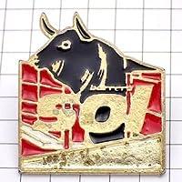 限定 レア ピンバッジ 黒い牛sol ピンズ フランス