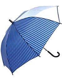 キッズ?ジュニア 1コマ透明POE窓付き ストライプ柄 55cm、58cm ジャンプ傘