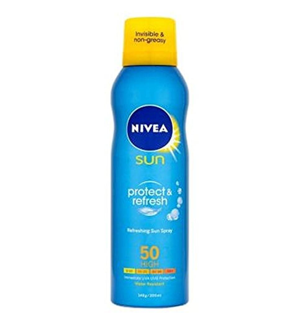 財団脇に愛されし者[Nivea] ニベア日は、Spf50の200ミリリットルを保護&リフレッシュ - Nivea Sun Protect & Refresh Spf50 200ml [並行輸入品]