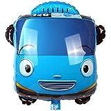 Tayo the Little bus ヘリウムバルーン 24インチ 誕生日デコレーション ピクニックパーティー用品 ベビーシャワー