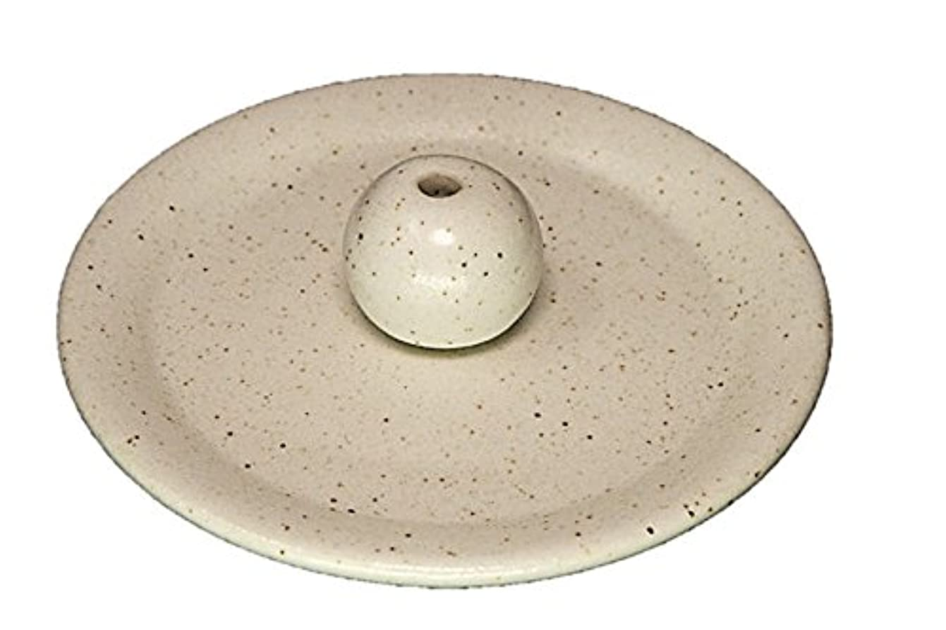 暗唱する酔っ払い海上9-29 粉引 9cm香皿 お香立て お香たて 陶器 日本製 製造 直売