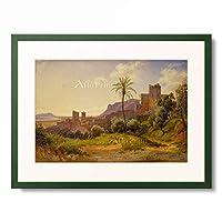 Carl Morgenstern 「Terracina. 1836.」 額装アート作品