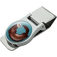 サテンのクロムメッキメタルマネークリップハッピーフェレット