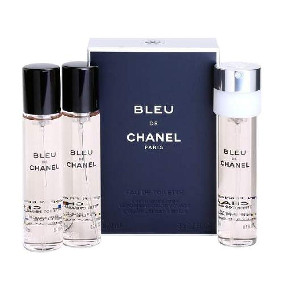 オール商業の比べるシャネル(CHANEL) ブルー ドゥ シャネル プールオム EDT SP 20ml×3本セット リフィル[並行輸入品]