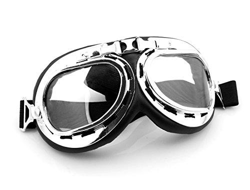 バイクアクセサリーアウトドアスポーツATV RidingスクーターDriving Flying Vintageメンズ乗馬保護ゴーグル眼鏡シルバーfor Can - Am Sonic 125175200250400500560